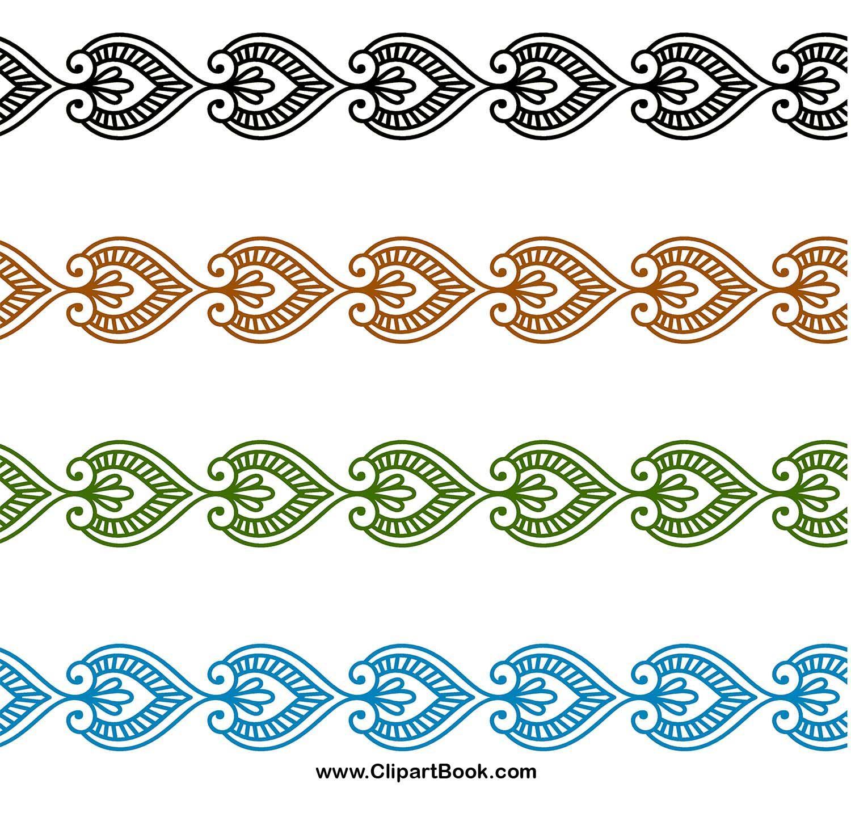 Digital embroidery digitizing borders designs.