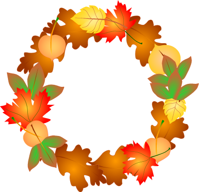 Fall season clip art.