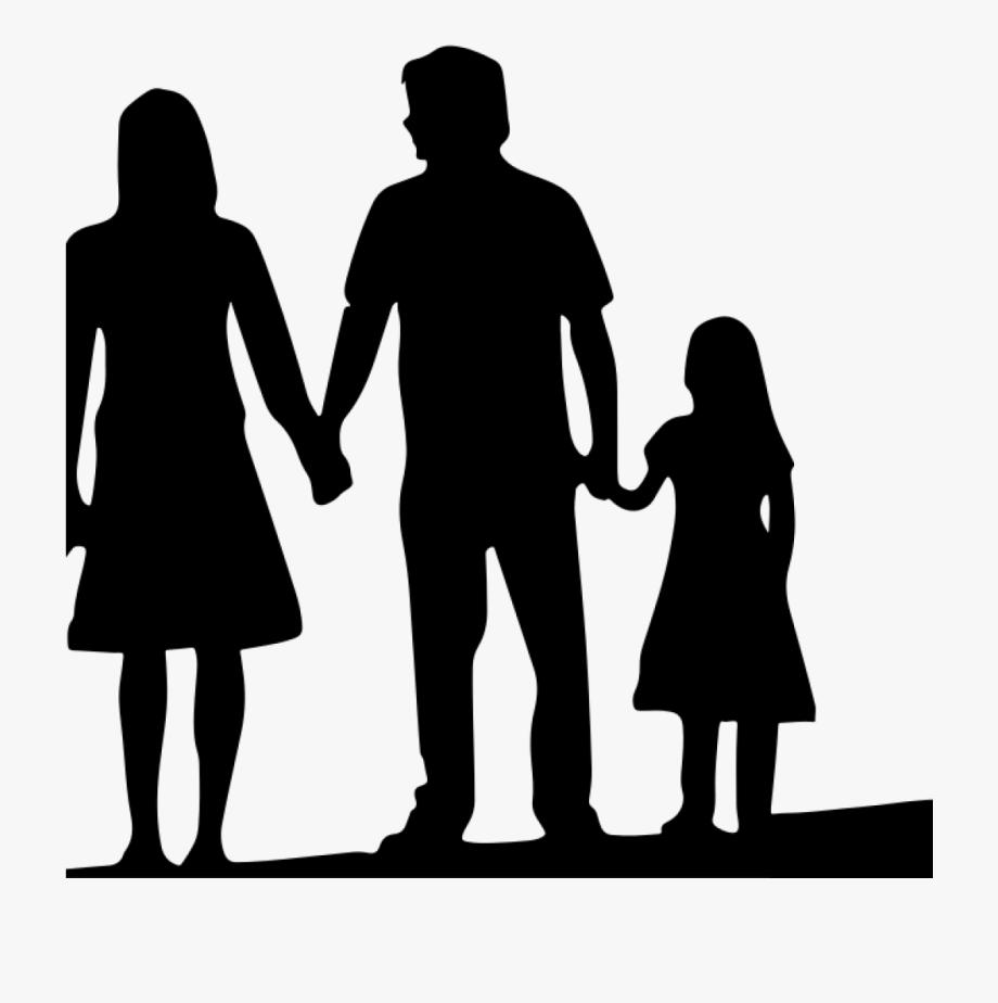Free Family Silhouette Clip Art 19 4 Person Family.