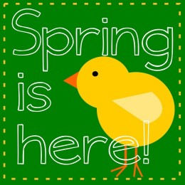 Spring Clipart; Happy First Day Of Winter, First Day Of Spring.