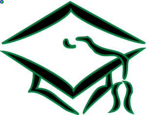Graduation Cap (green Outline) Clip Art at Clker.com.