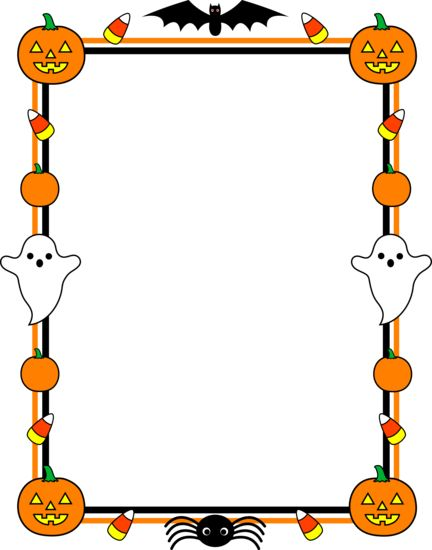 halloween page borders free.