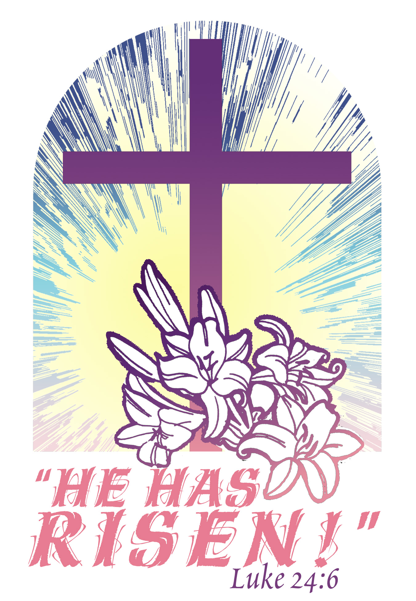 Free Clipart For Happy Easter With A Cross.