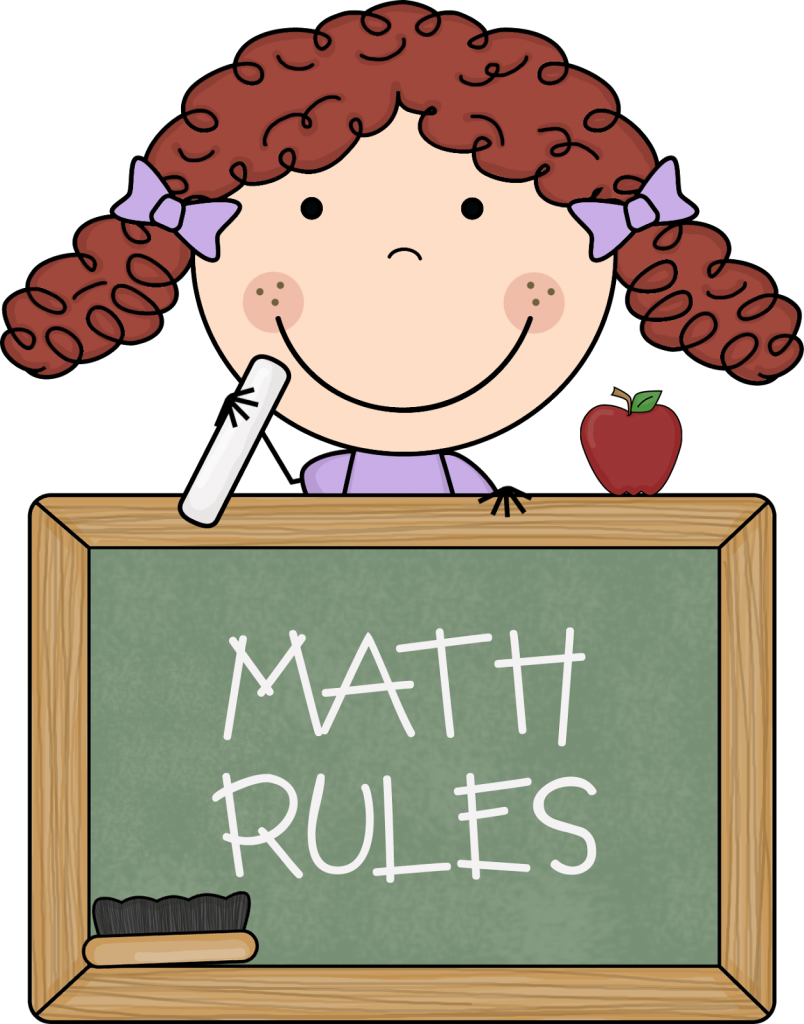 Free Math Teacher Clipart Image.