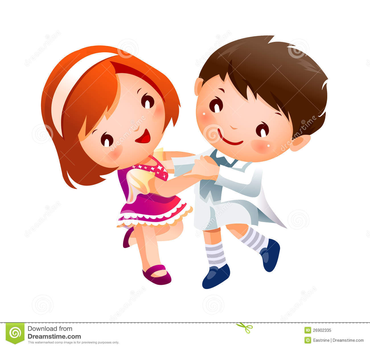 Boy And Girl Dancing Royalty Free Stock Photo.