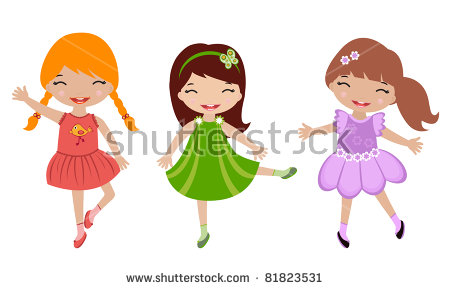 Little Girl Dancing Stock Images, Royalty.