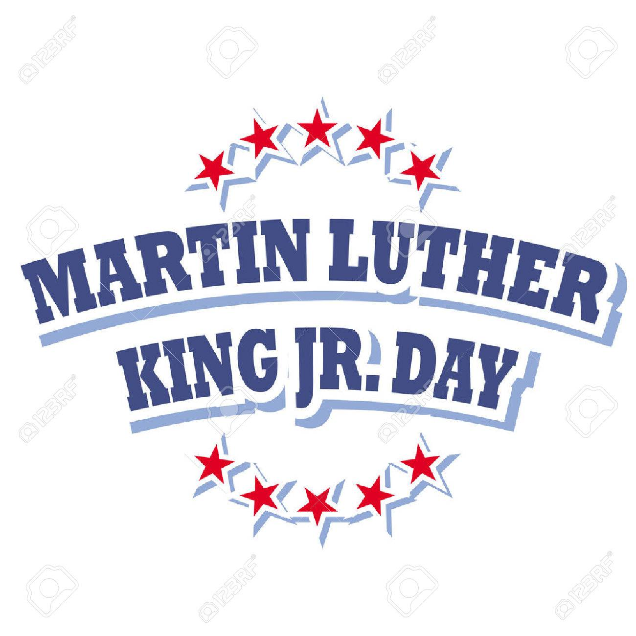 america martin luther king jr day sign vector isolated on white...