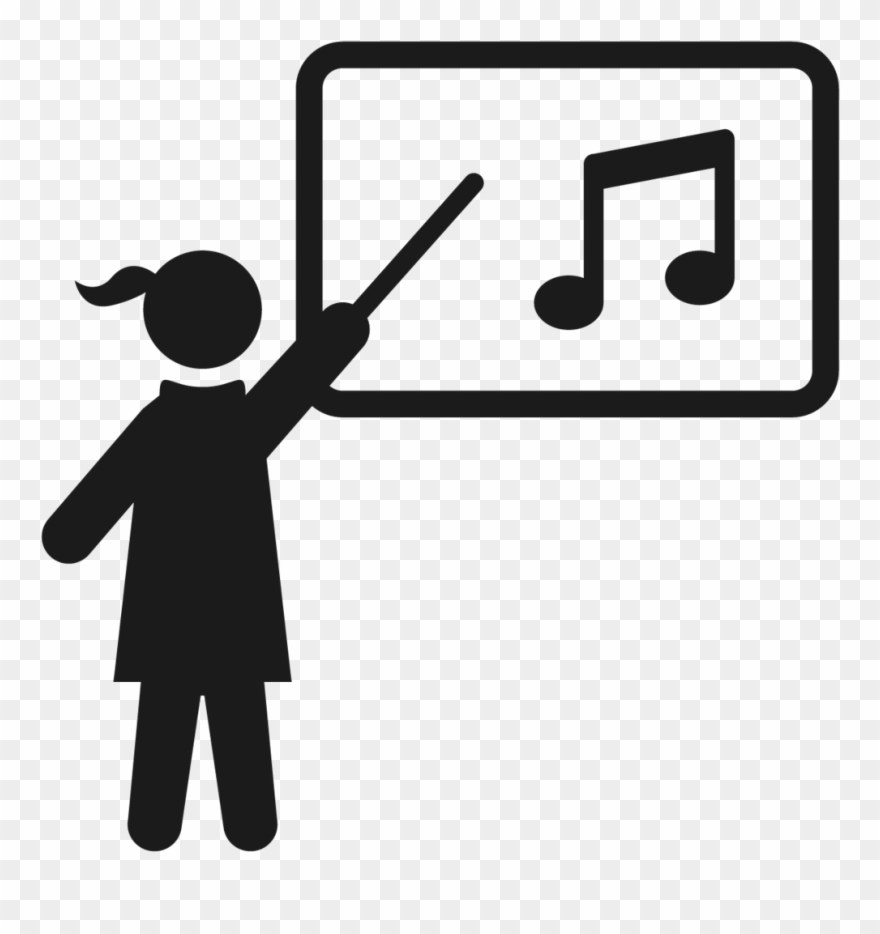 Transparent Teacher Music Clip Royalty Free Download.
