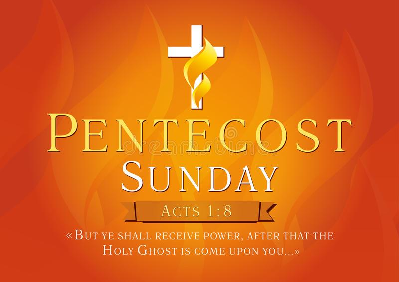 Pentecost Sunday Card Stock Illustrations.