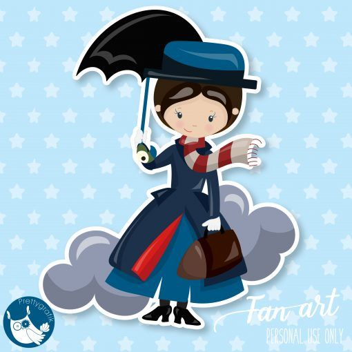 Marry Poppins clipart Freebie.