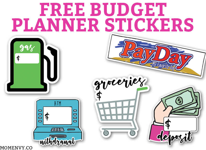 Free Budget Planner Stickers.