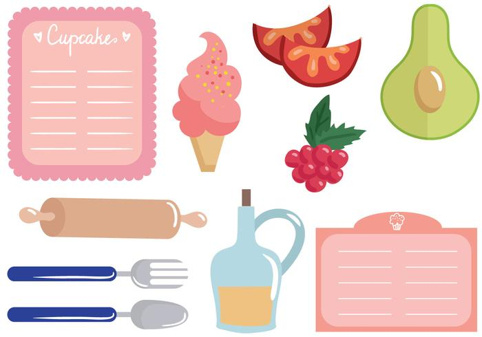 Free Recipe Cards Vectors.