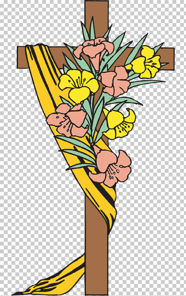 Easter Cross , Christian Easter Transparent Background.