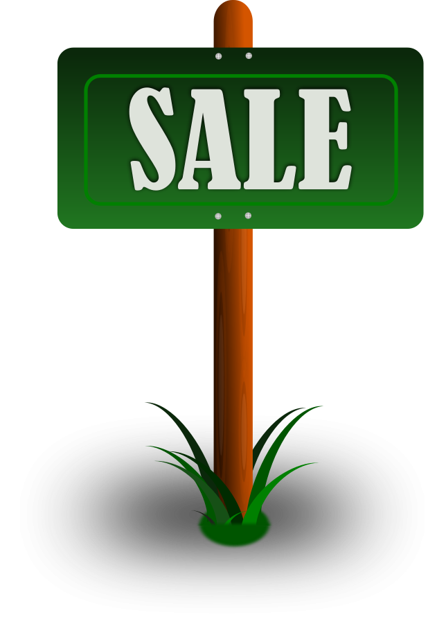 free clipart for sale sign
