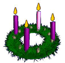 Clipart advent wreath 2nd week of advent.
