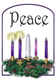 Advent wreath clipart second sunday.
