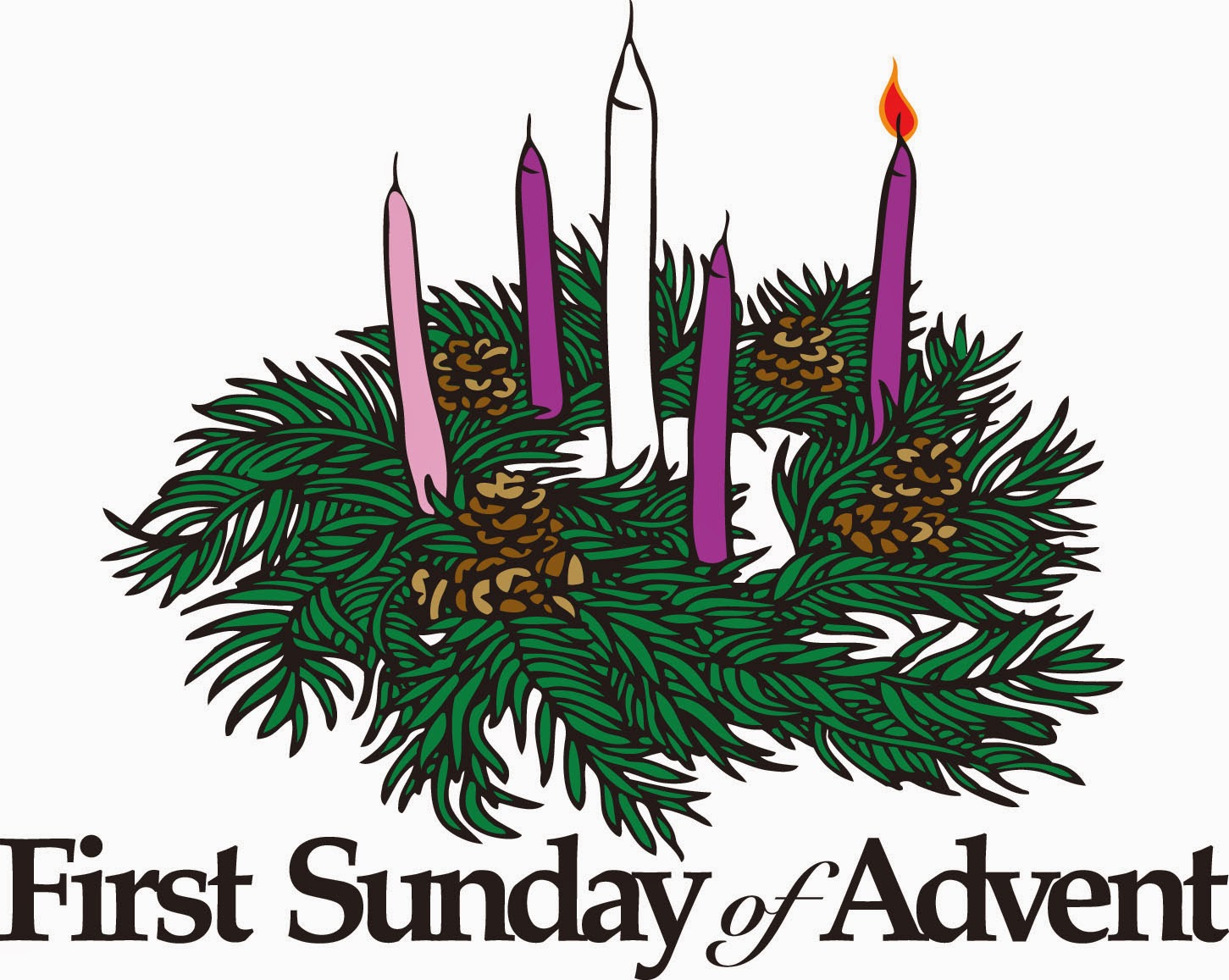 First sunday of advent 2014 clipart.