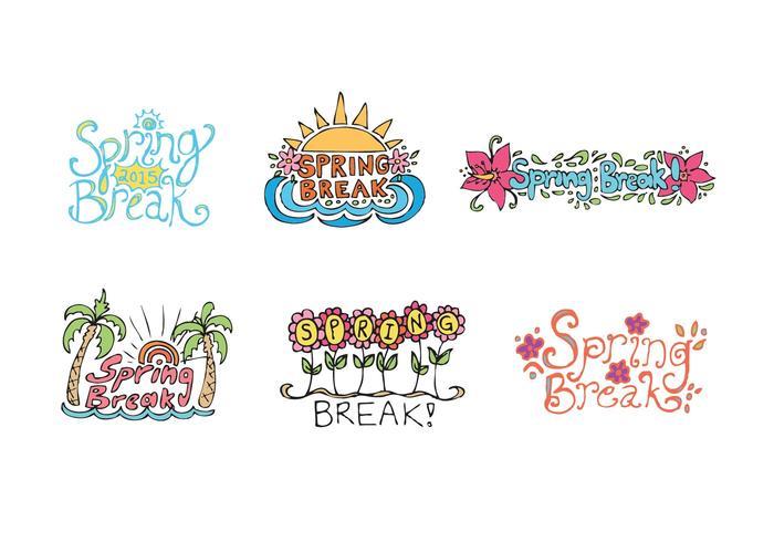 Free Spring Break Vector Series.