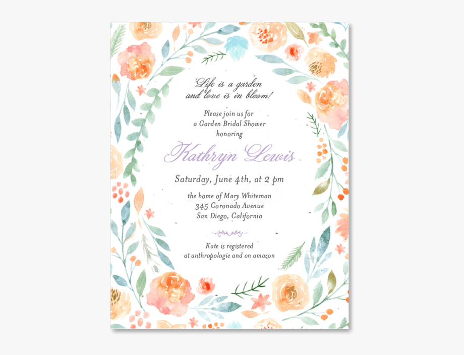 Unique Bridal Shower Invitations.