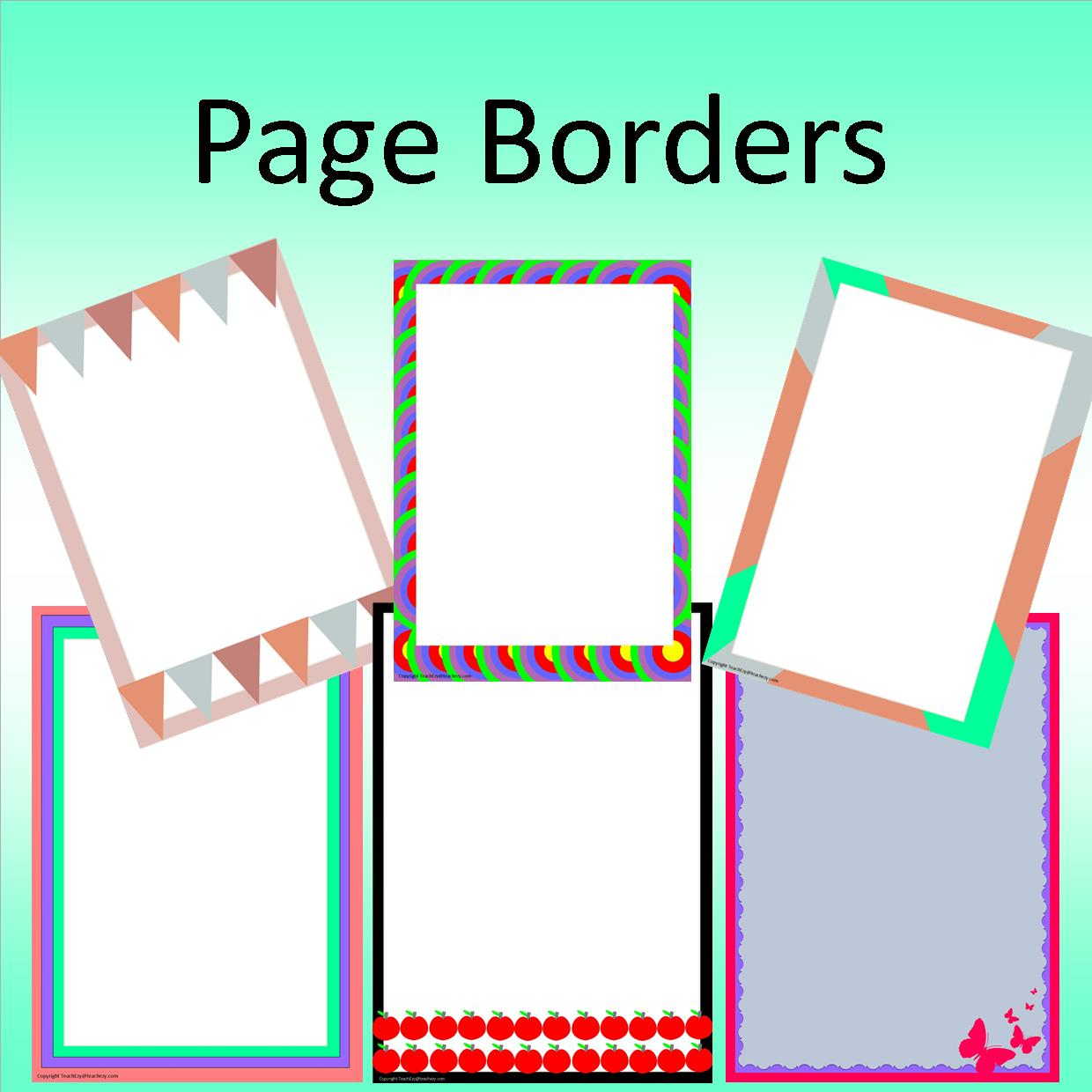 word page borders free