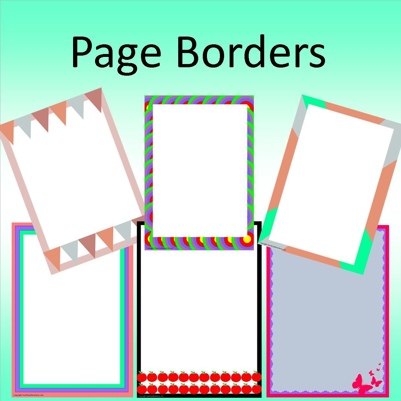 Word Document Borders Free.