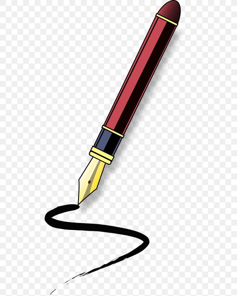 Fountain Pen Paper Clip Art, PNG, 512x1024px, Pen, Ballpoint.