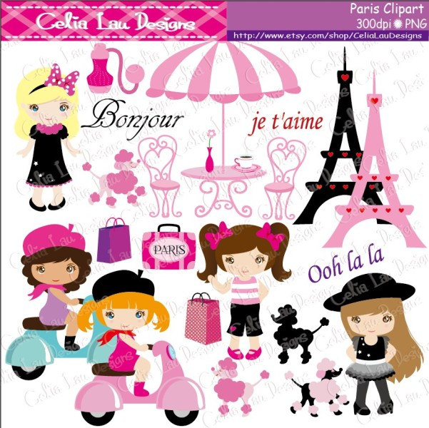 Paris Clipart , French Paris Clip Art , Poodle, Paris Free Clipart.
