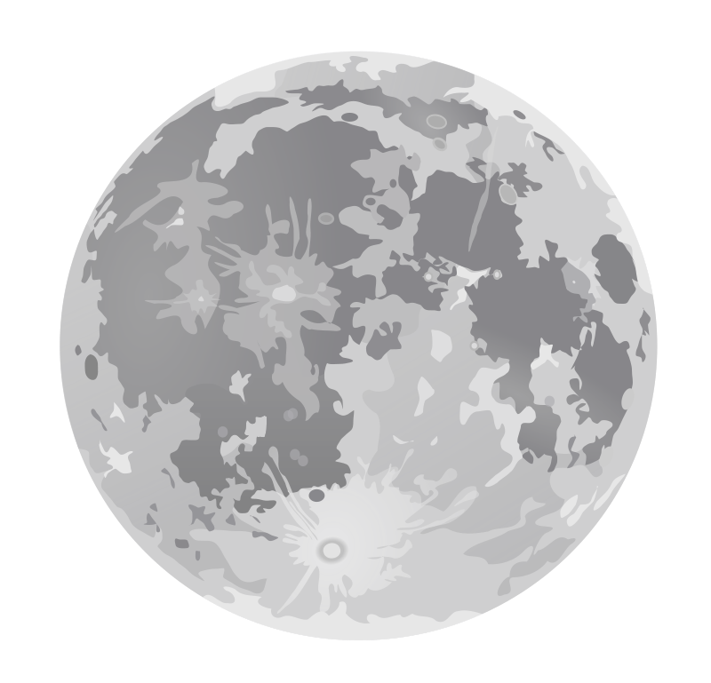 Free Clipart: Full moon dan gerhards 01.