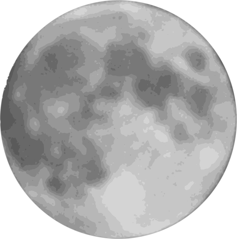 Free Clipart: Full moon.