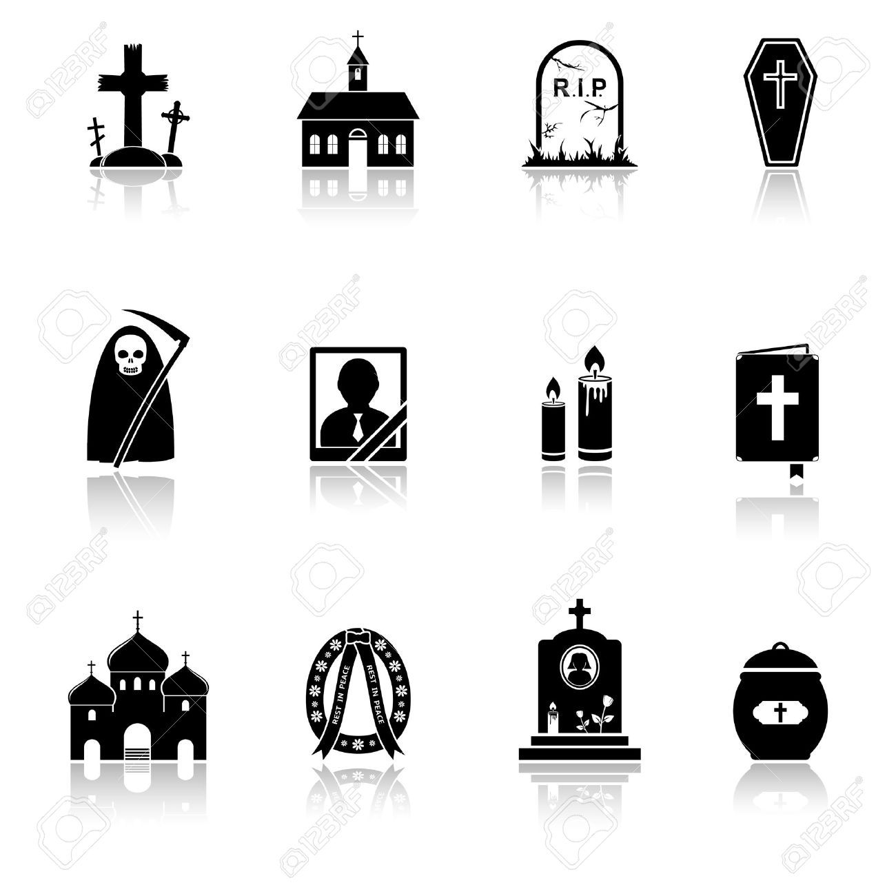 616 Funeral Flowers Stock Illustrations, Cliparts And Royalty Free.