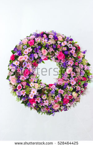 Funeral Flowers Stock Images, Royalty.
