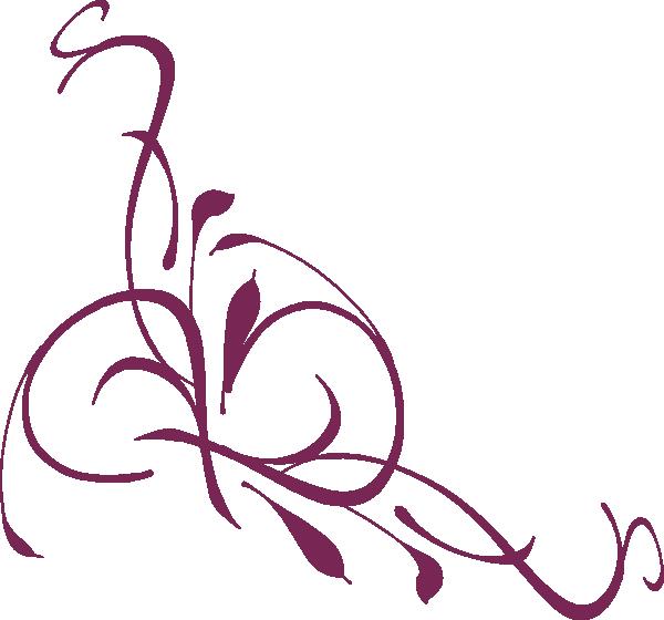 Floral Swirl Plum Clip Art at Clker.com.