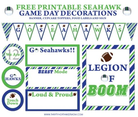 17 Best ideas about Seahawks Printables Free on Pinterest.
