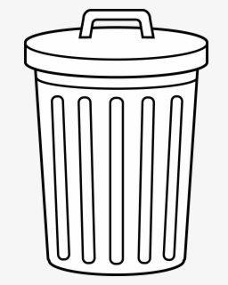 Free Classroom Trash Can Clip Art with No Background.