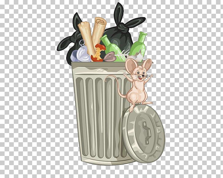 Stock photography Waste container , Garbage rat in the.