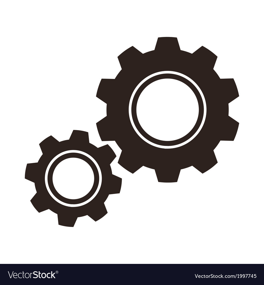 Gears cogs icon.