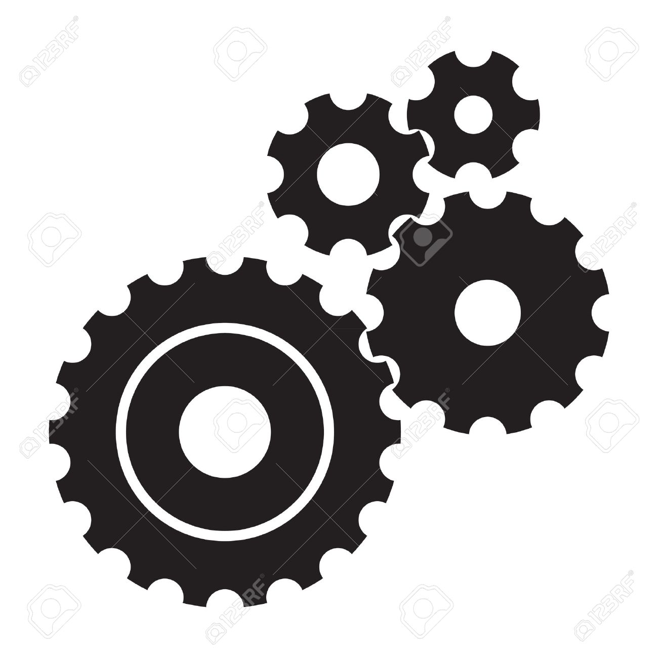 1204 Gears free clipart.