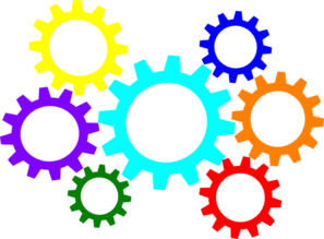 Gears Colorful Clip Art at Clker.com.