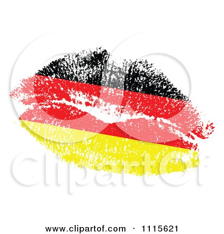 Clipart Germany Map With Flag Colors.
