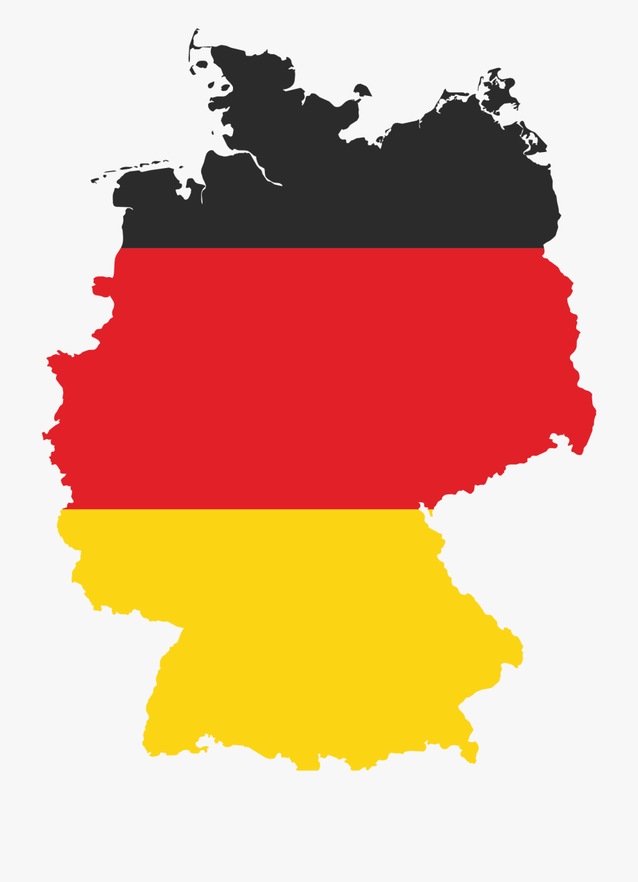 Map German Of Flag States Berlin Germany Clipart.