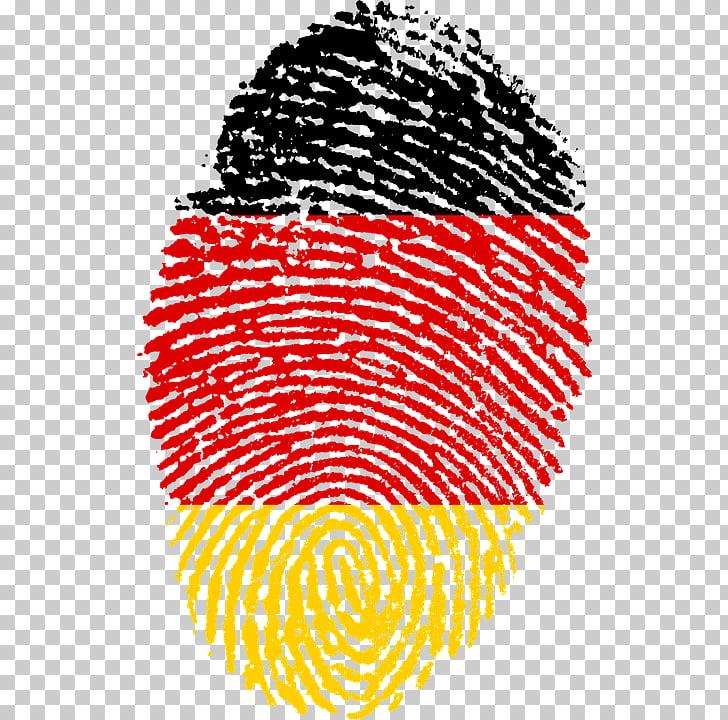 Fingerprint Germany Flag PNG clipart.