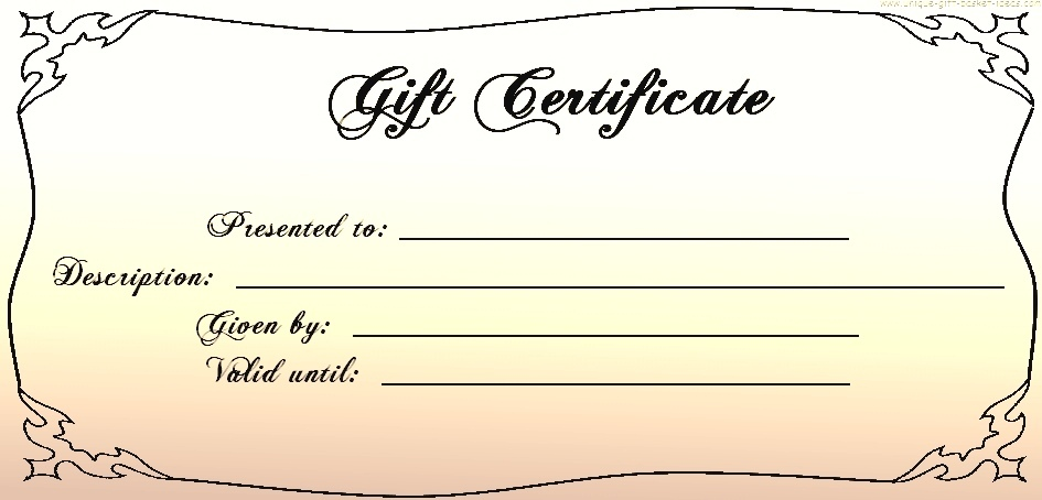 Free Clipart Gift Certificate.