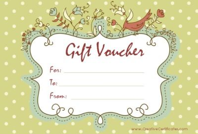 Free printable gift vouchers. Instant download. No.