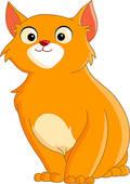 Clip Art of cute ginger cat k3733339.