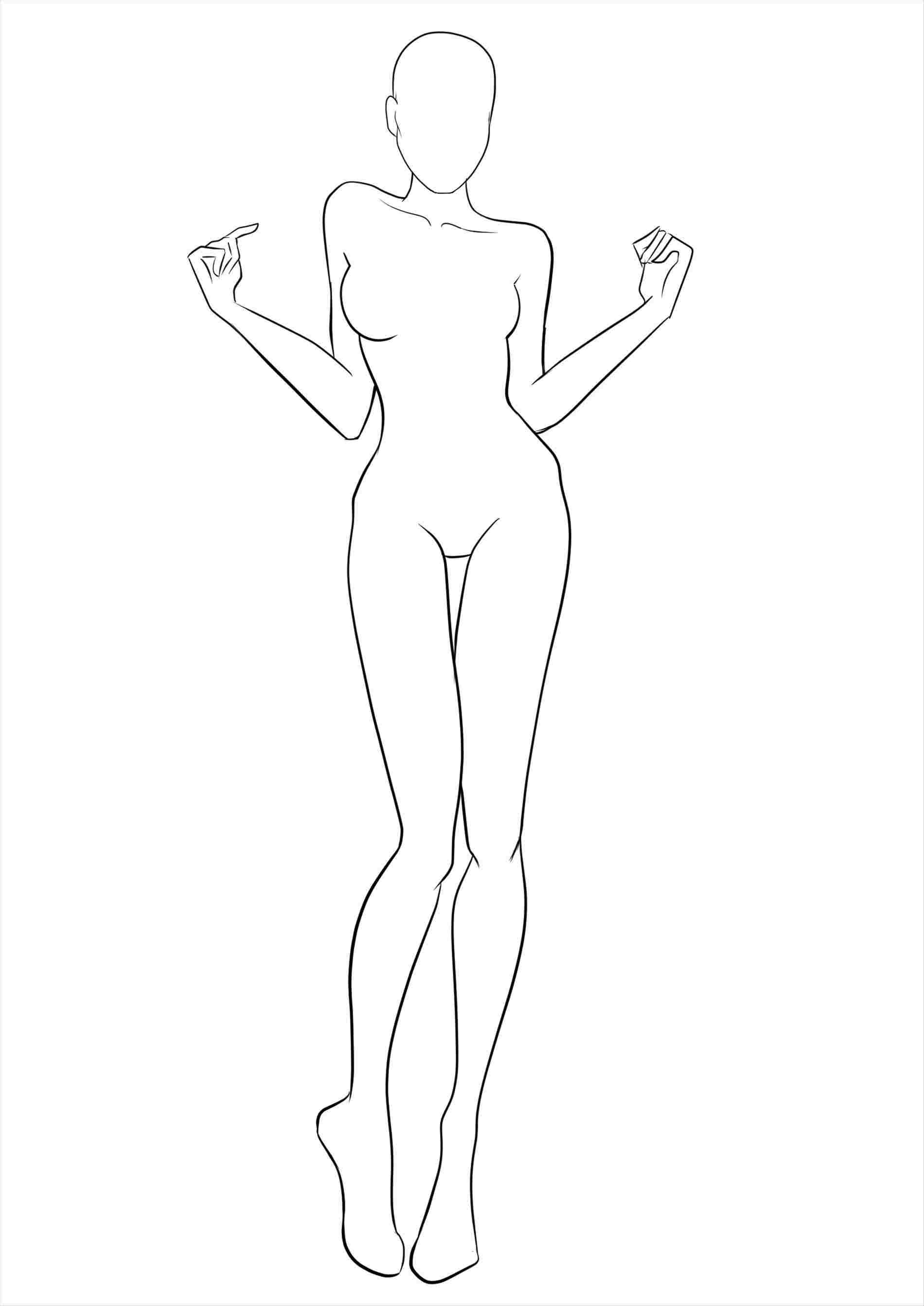 Female Body Outline Sketch at PaintingValley.com.