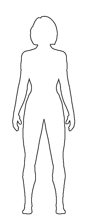 free clipart girl body drawing outline