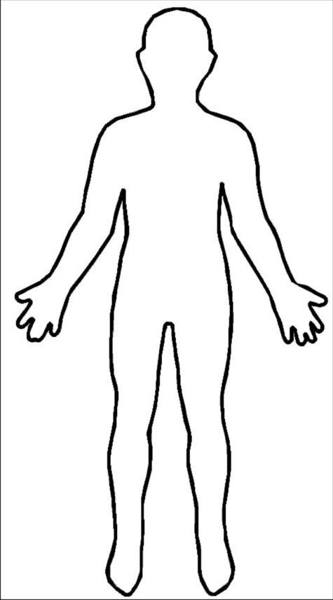 Human Body Outline Printable.