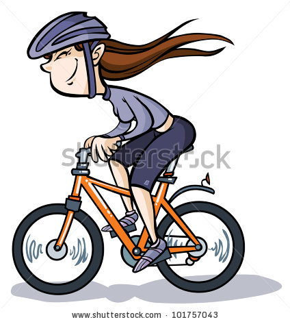 Girl Bike Stock Images, Royalty.