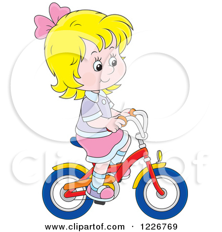 Showing post & media for Little girl riding bike cartoon.