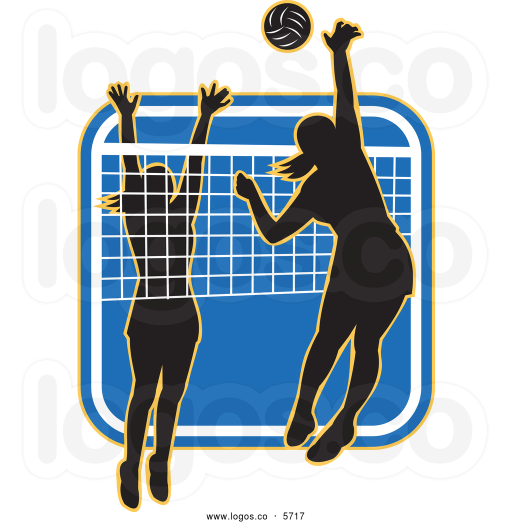 Volleyball Player Silhouette Clipart.